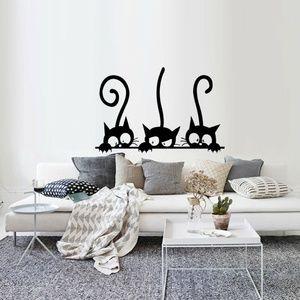 Wall Art - Three Black Cats Wall Art Decal